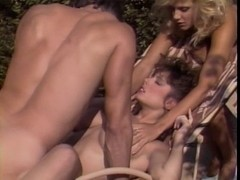 Christy Canyon & Ginger Lynn FFM
