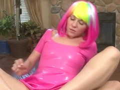 Claire Heart gives a footjob