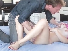 Alice March seducing her horny stepdad