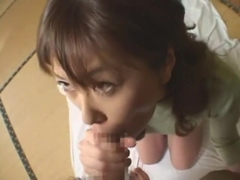 Fabulous Japanese girl Arisa Kanno, Tina Yuzuki, Moe Oishi in Horny Blowjob, POV JAV video