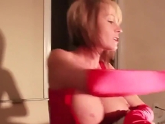 Satin Glove Blowjob