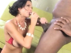 Veronica Avluv is giving a blowjob to a black man, Dingo Smash and then getting fucked
