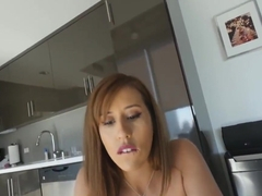 Sexy hot brunette Kharlie Stone riding huge cock