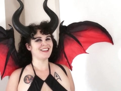 Demoness Giantess Crushes Tiny Town