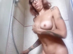 a very hot shower with me