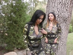 Huge tits soldiers anal toying