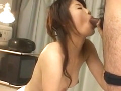Emiri Aoi in white crotchless has cunt fucked