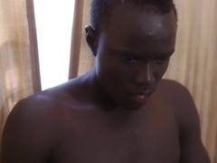 African Twink Micheal Stroking Big Cock - 80Gays