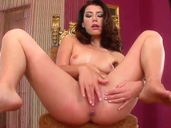Snazzy dusky Betty Saint having a passionate masturbation