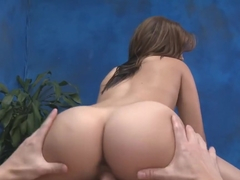 Petite girl with hot ass sliding on a cock