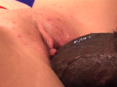 A white stepdaughter blows her black stepdad