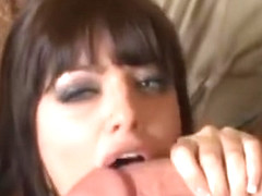 Sadie West help a man to took off his pants and suck his penis