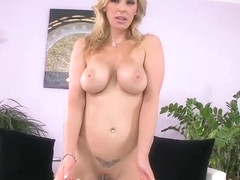 Adorable trimmed English experienced female Tanya Tate in teasing lesbian sex video