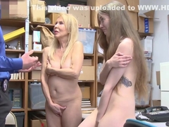Samantha Hayes and her Grandma Erica Lauren gets banged by officers dick