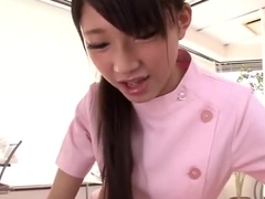 Handsome Japanese teen harlot Miyazaki Rinon in very hot alluring stockings