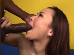 Filipina Cutie Kita Zen Deepthroats And Rides Big Black Cock
