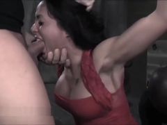 Megastar Skin Diamond Submits in Bondage with Face Fucking Like No Other