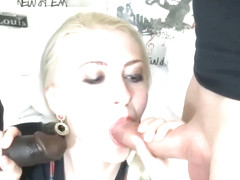 Blonde hotwife getting worked by BBC and husband