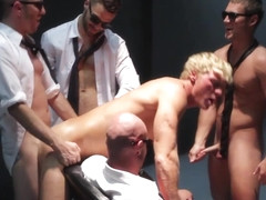 Athletic hunk commanded to suck and fuck