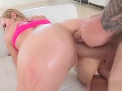 Young Hottie Dakota James Gets Impaled By Bf