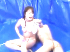 japanese oil catfight ripping clothes off