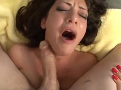 Horny Tattooed Babe Melina Mason Deep Throats Cock