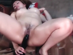 Yummy Curly Milf Dildo Penetration