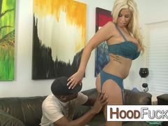 Bridgette B interracial blowjob