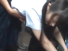 Jav Schoolgirl Ambushed On Public Bus Fucked Standing Up In Her Uniform Big Teen Ass
