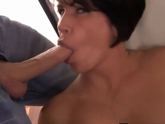 Busty Brunette Milfs Sara Jay &amp_ Shay Fox Share A Cock!