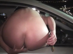 DriveByGirls Double penetration through a car window