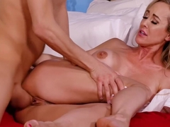 My Friend's Hot Mom - Blonde Brandi Love fucking in the bedroom with her tits