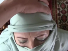 POV Teen Sloppy Burqa Facefuck And Cumplay.Requested CFNM Sex Tape-HD Porn