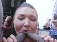 Private Black - Ravenous Vanessa Vaughn Bangs 4 Black Cocks!