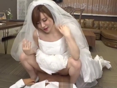 Koizumi Aya wearing a wedding dress