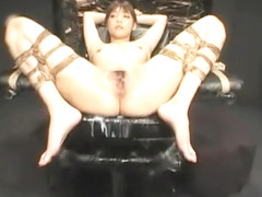 Awesome Korean cheerleader likes the round of bdsm Part 04