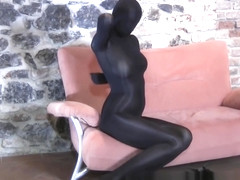 Crazy Spandexbabe in fullbody catsuit
