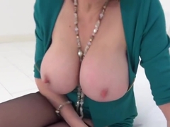 Unfaithful english milf lady sonia pops out her massive boobs