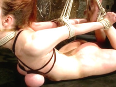 Iona Grace in Big Titted Slut Iona Grace Suspended And Tormented On HogTied.Com - HogTied