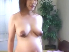 Soon to be mom from Asia is naked