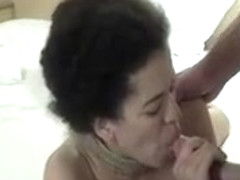Curly Haired Brunette Hot Blowjob