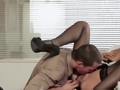 Gorgeous Alexa Tomas getting fucked good at the office