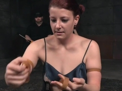 Nipple Clamped Slut Disciplined In Bdsm