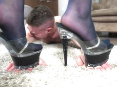 Ally Kay Femdom And Foot Fetish With Horny Boyfriend