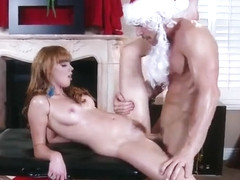Unearthly redhead Marie McCray is putting a sextoy inside