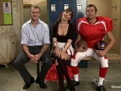 Brat Princess Cuckolds Her Boyrfriend With Football Coach