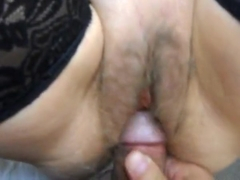 fucking and spreading hairy cunt for cum