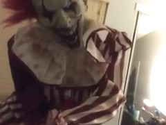 Clown makes her cum on Halloween
