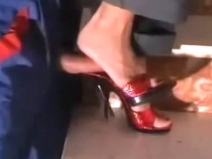 Red Mules Shoejob