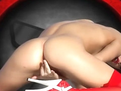 Viola Bailey Red Lingerie iStripper''